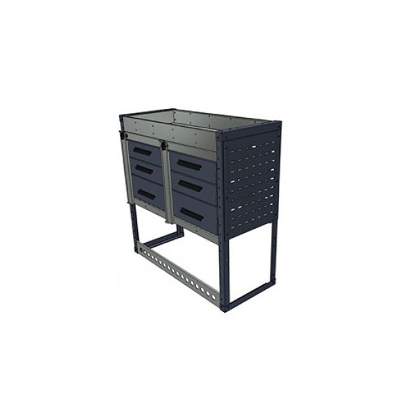1000h x 1250w x 435d 3 Drawer / 1 Cabinet / Top Tray Module